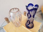 2 Bleikristallvasen handgeschliffen 70 Jahre