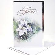 Trauerkarte Aquarell bemalt mit Schriftzug