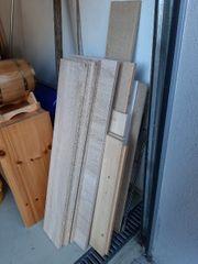 Holzreste für Regale
