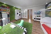 Fußballerzimmer - Möbelset und Anordnung