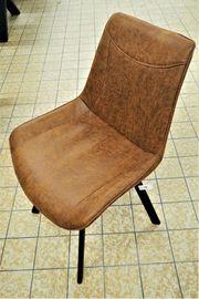 Neu -Edle Cognacfarbene Leder Stühle