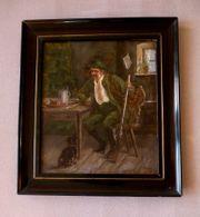 tolles altes Ölgemälde Gemälde signiert