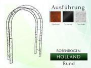 Metall- Eisen- Rosenbogen HOLLAND Rund