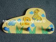 Kindergarderobe gelb blau mit Tiermotive