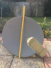 Satellitenschüssel 65 cm grau mit