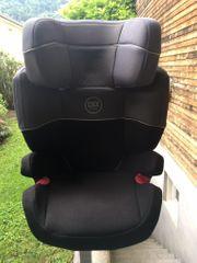 Verkaufe Kindersitz schwarz-grau mit Isofix