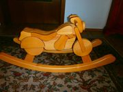 Schauckelpferd aus Holz Motorrad sehr