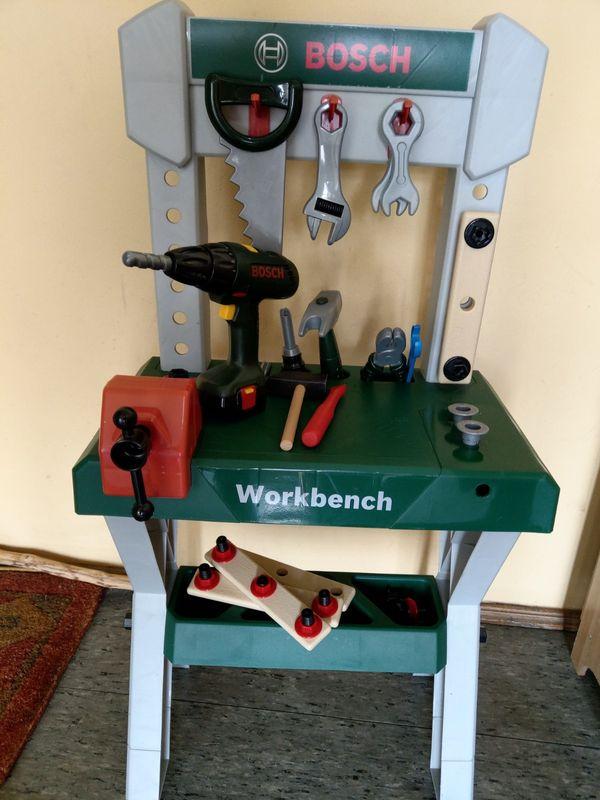 Kinder Bosch Werkbank mit elektr