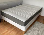 Bett inkl Lattenrost mit Taschenfederkernmatratze