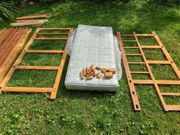 Hochbett aus Holz - bereits abgebaut