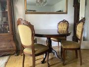 Esstisch und 4 Stühle Barock