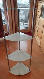 Eckregal mit 4 Glasböden