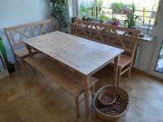 Esstisch- Set Holz für 8 -