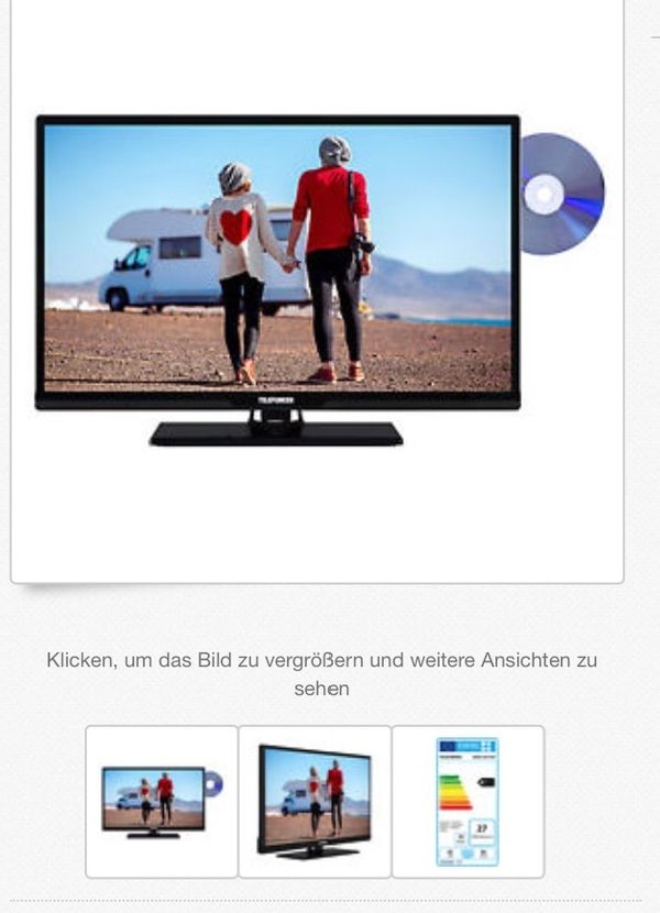 Telefunken LCD TV m  DVD Player, Tripel Tuner 80 cm in Berlin - TV