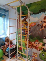 Klettergerüst fürs Kinderzimmer Leiter Seil