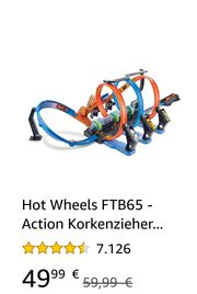 Hot Wheel Korkenzieher Crash Set