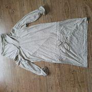 Long-Shirt Rollragen-Kleid beige Gr 36