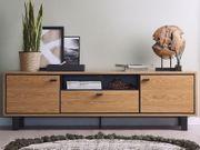 TV-Möbel heller Holzfarbton PARAMOUNT neu -