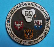 Absolute Seltenheit Plakette Verbandswanderfahrt 1956