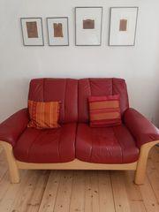 Rotes Stressless Sofa 2-Sitzer mit