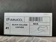 Herren Lederschnürschuh schwarz Gr 41