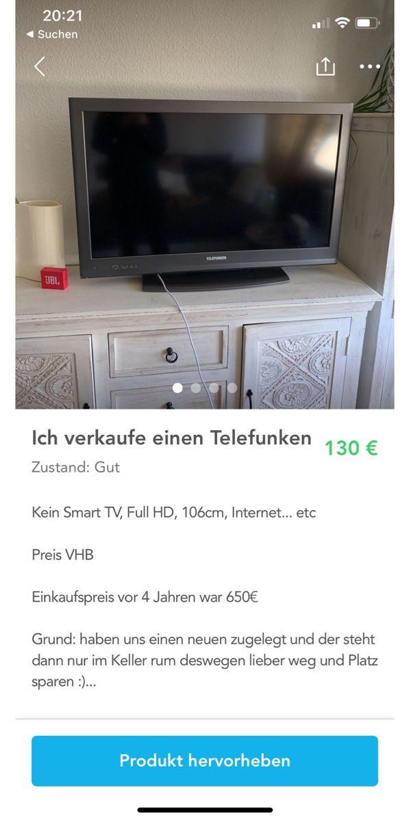 verkaufe einen TV