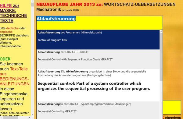 german-english Technical Text-Translator User Manual