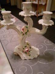 Porzelan Kerzenständer 25 cm
