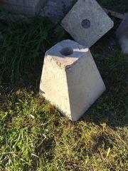 Holzlagersteine Fundamentsteine für Pfosten