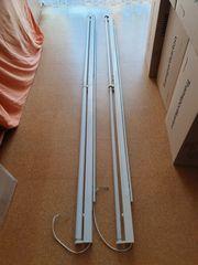 Leuchtstofflampen auf Schiene montiert
