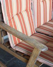 Sitzauflagen für Gartenmöbel - insgesamt 7