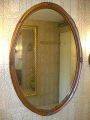 ovaler Spiegel Holzrahmen
