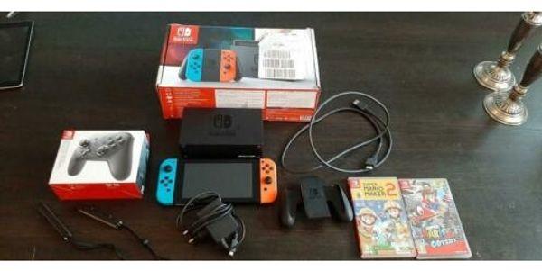 Nintendo Switch mit allem Zubehör