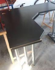 Schreibtisch Arbeitsplatte über Eck mit