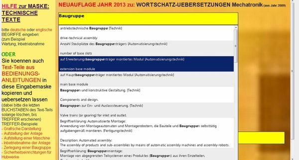 german-english Translation of Engineering Texts