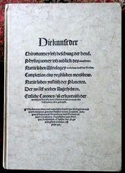 Die Kunst der Chirmantzey - Faksimile