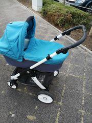 Blauer Kombi-Kinderwagen Teutonia Cosmo 14