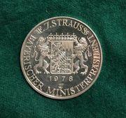 Silbermedaille Franz Josef Strauss 1978