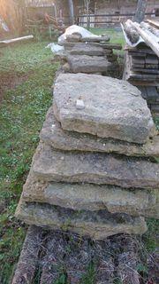 3 Paletten Sandsteinplatten