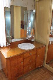Antikes Spiegelschränkchen - Eiche lackiert - Biedermeier