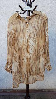 Sommerlich-leichte neuwertige Bluse im Safari-Look
