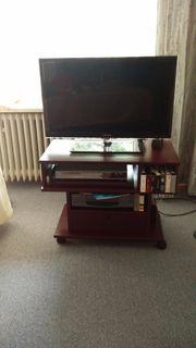 Sehr gut erhaltenes mahagonifarbenes TV-Schränkchen