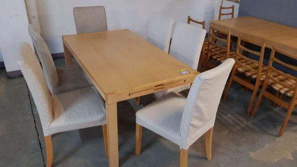Esstisch ausziehbar mit 6 Stühlen