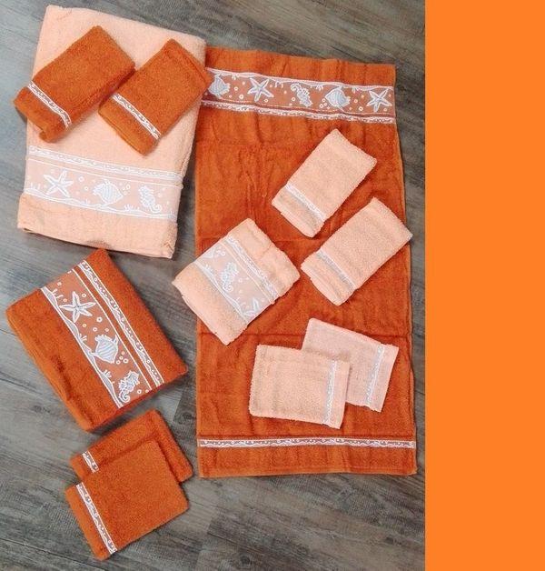 Handtuchset 14tlg apricot terra NEU