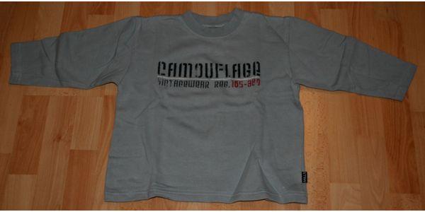 Grau-blaues Sweat-Shirt - Größe 116 - Pullover -