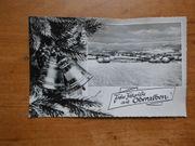 Weihnachtsgrußkarte aus Oberalben Dorfpostkarte 1961