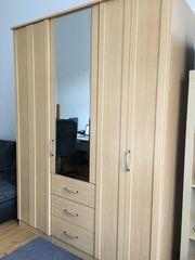 Kleiderschrank 3teilig Holzfurnier hell 150x200x60cm
