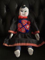 Chinesische Porzellankopf-Puppe