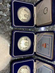 100 Schilling Silbermünzen 4 Stück