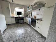 Küche weiß dunkelbraun komplett mit